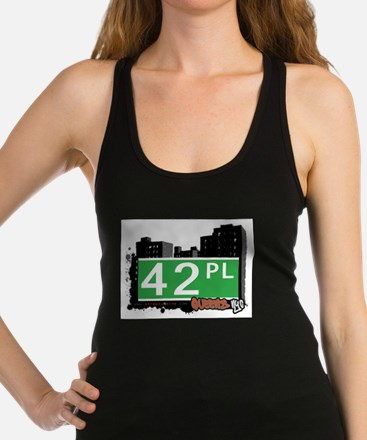 42 PLACE, QUEENS, NYC Racerback Tank Top
