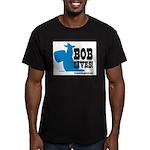 bob lives Men's Fitted T-Shirt (dark)