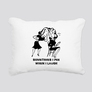 Sometimes I Pee ... Rectangular Canvas Pillow