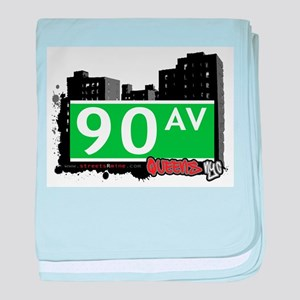 90 AVENUE, QUEENS, NYC baby blanket