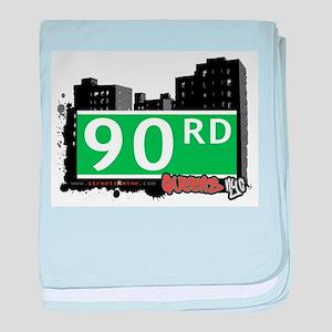 90 ROAD, QUEENS, NYC baby blanket
