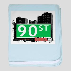 90 STREET, QUEENS, NYC baby blanket