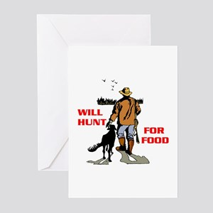 HUNT FOR FOOD Greeting Cards (Pk of 10)
