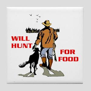 HUNT FOR FOOD Tile Coaster