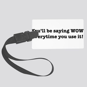 TEXT Large Luggage Tag