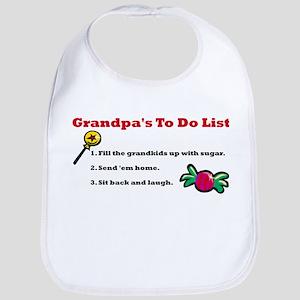 Grandpa's To Do List Bib