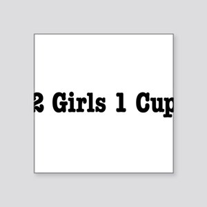 "2girls Square Sticker 3"" x 3"""