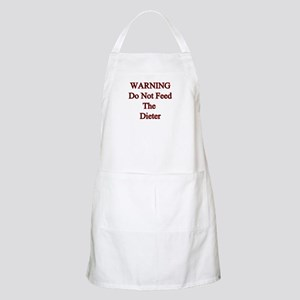 Warning do not feed the dieter BBQ Apron