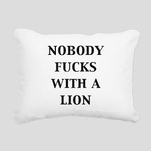 nobody-fucks-with-a-lion Rectangular Canvas Pi