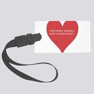 Heart-7 Large Luggage Tag