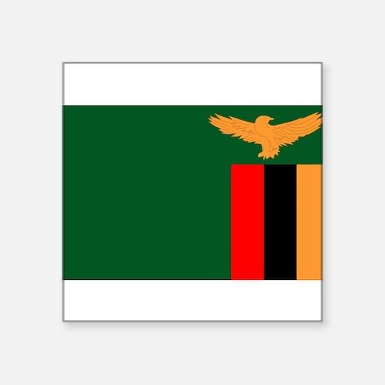 """Zambia-[Converted].jpg Square Sticker 3"""" x 3"""""""