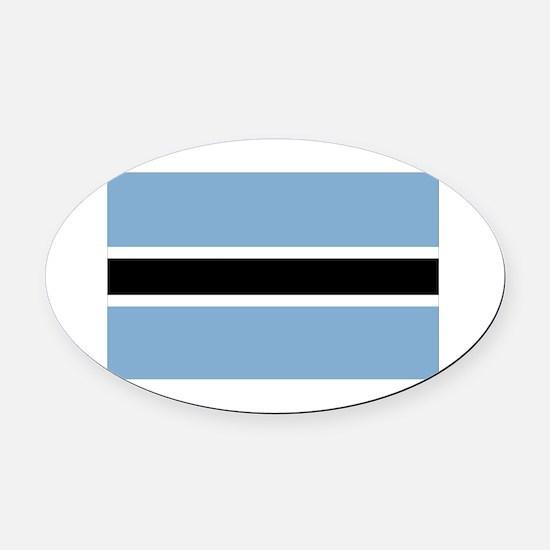 Botswana-1-[Converted].jpg Oval Car Magnet