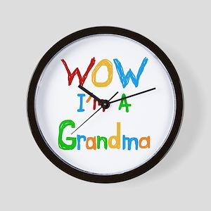 WOW I'm a Grandma Wall Clock