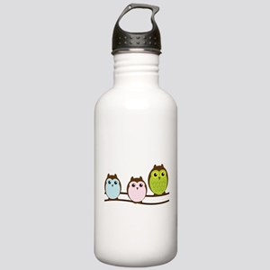 Three Owls in a Row Stainless Water Bottle 1.0L