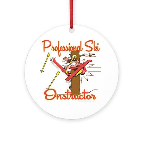 Ski Instructor Ornament (Round)