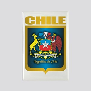 Chile Gold Rectangle Magnet