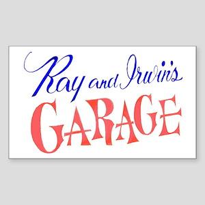 Ray and Irwin's Garag Rectangle Sticker