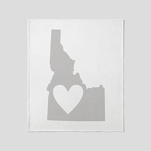 Heart Idaho Throw Blanket