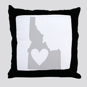 Heart Idaho Throw Pillow