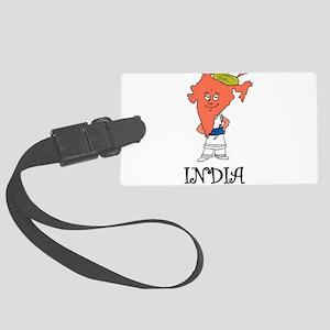 India Large Luggage Tag