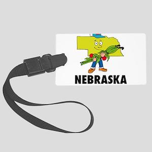 Nebraska Large Luggage Tag
