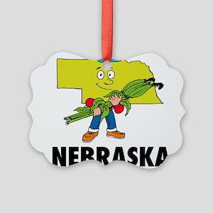Nebraska Picture Ornament