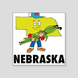 """Nebraska Square Sticker 3"""" x 3"""""""