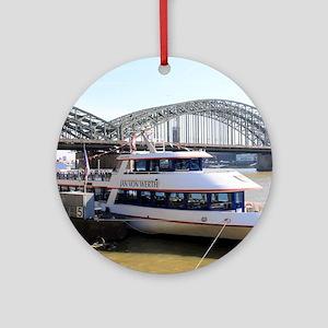 Hohenzollern Bridge, Cologne, Germa Round Ornament