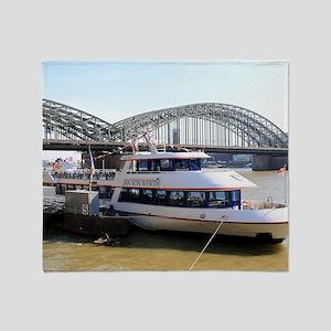 Hohenzollern Bridge, Cologne, German Throw Blanket