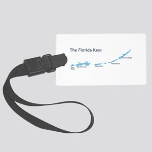 Florida Keys - Map Design. Large Luggage Tag