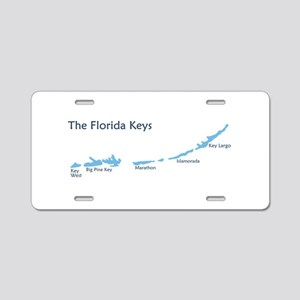 Florida Keys - Map Design. Aluminum License Plate
