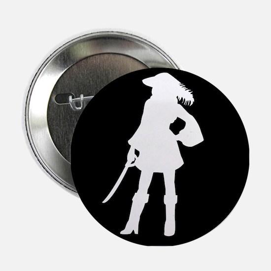 """pirate silhouette dark square2 2.25"""" Button"""