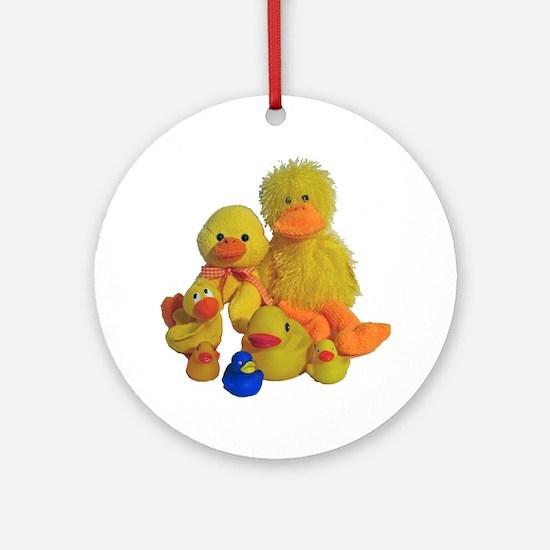 Bunch of Ducks Ornament (Round)