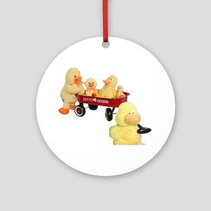 Ducky Flyer Ornament (Round)