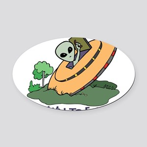 Down to Earth Oval Car Magnet