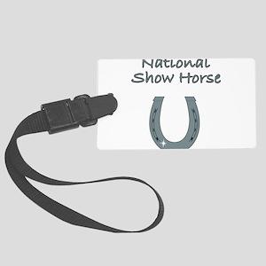 national show horse Large Luggage Tag