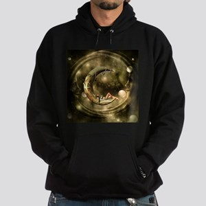 Steampunk lady in the night with moons Sweatshirt