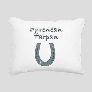 Pyrenean Tarpan Rectangular Canvas Pillow