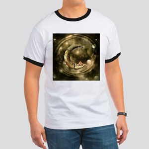 Steampunk lady in the night with moons T-Shirt