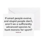 Hunt Morons Greeting Cards (Pk of 10)