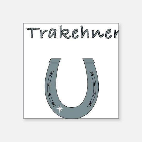 "trakehner Square Sticker 3"" x 3"""