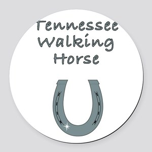 tennessee walking horse Round Car Magnet