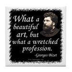 Bizet Music Quote Tile Coaster