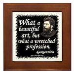 Bizet Music Quote Framed Tile