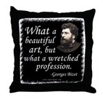 Bizet Music Quote Throw Pillow