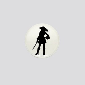 Pirate Girl Mini Button