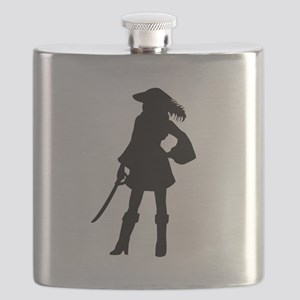 Pirate Girl Flask