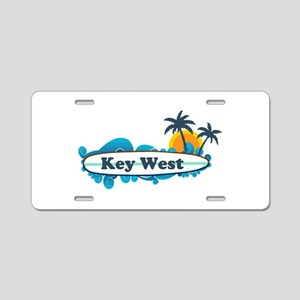 Key West - Surf Design. Aluminum License Plate