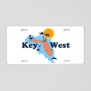 Key West - Map Design. Aluminum License Plate