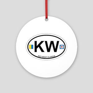 Key West - Oval Design. Ornament (Round)
